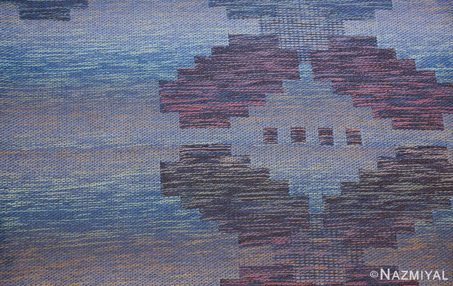 vintage scandinavian swedish rug 47678 blue Nazmiyal
