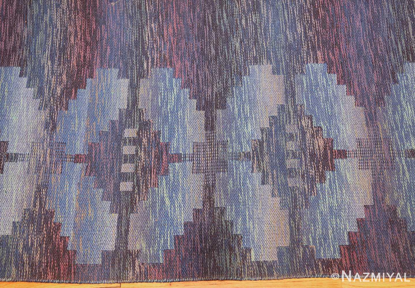 vintage scandinavian swedish rug 47678 border Nazmiyal