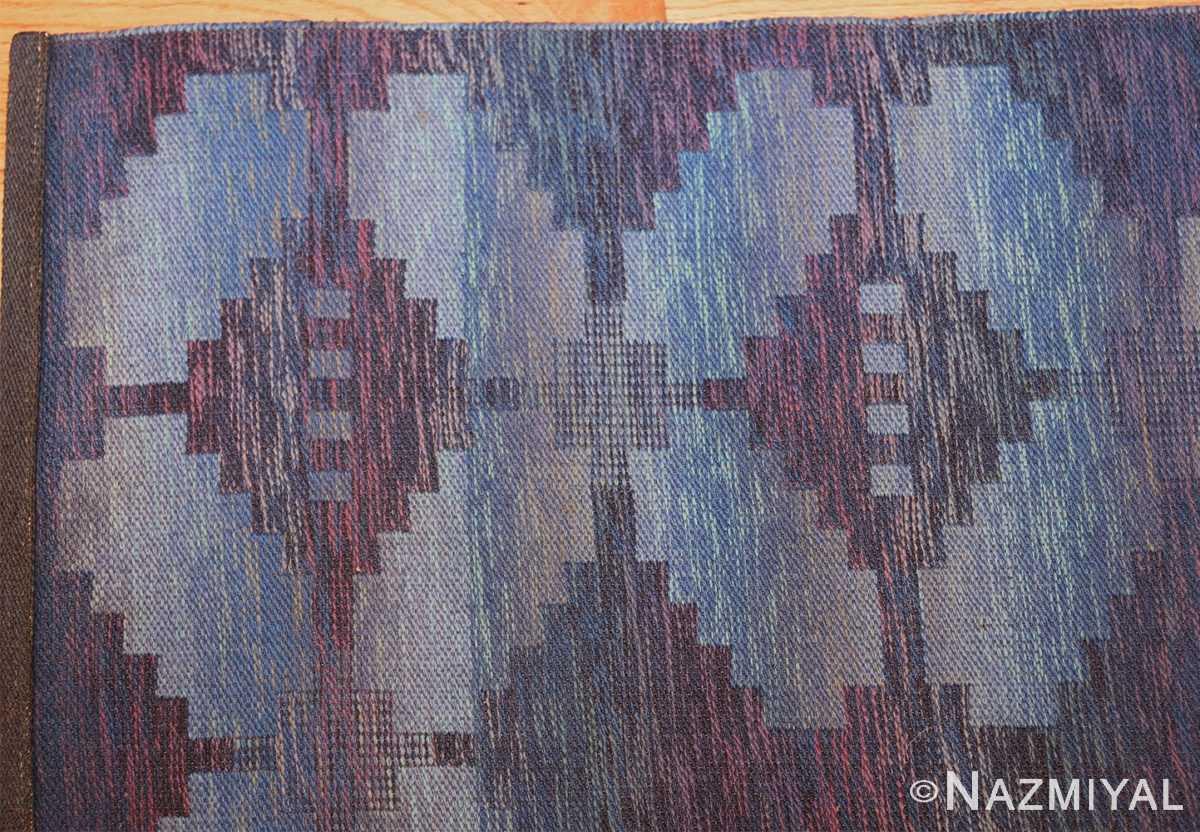vintage scandinavian swedish rug 47678 corner Nazmiyal