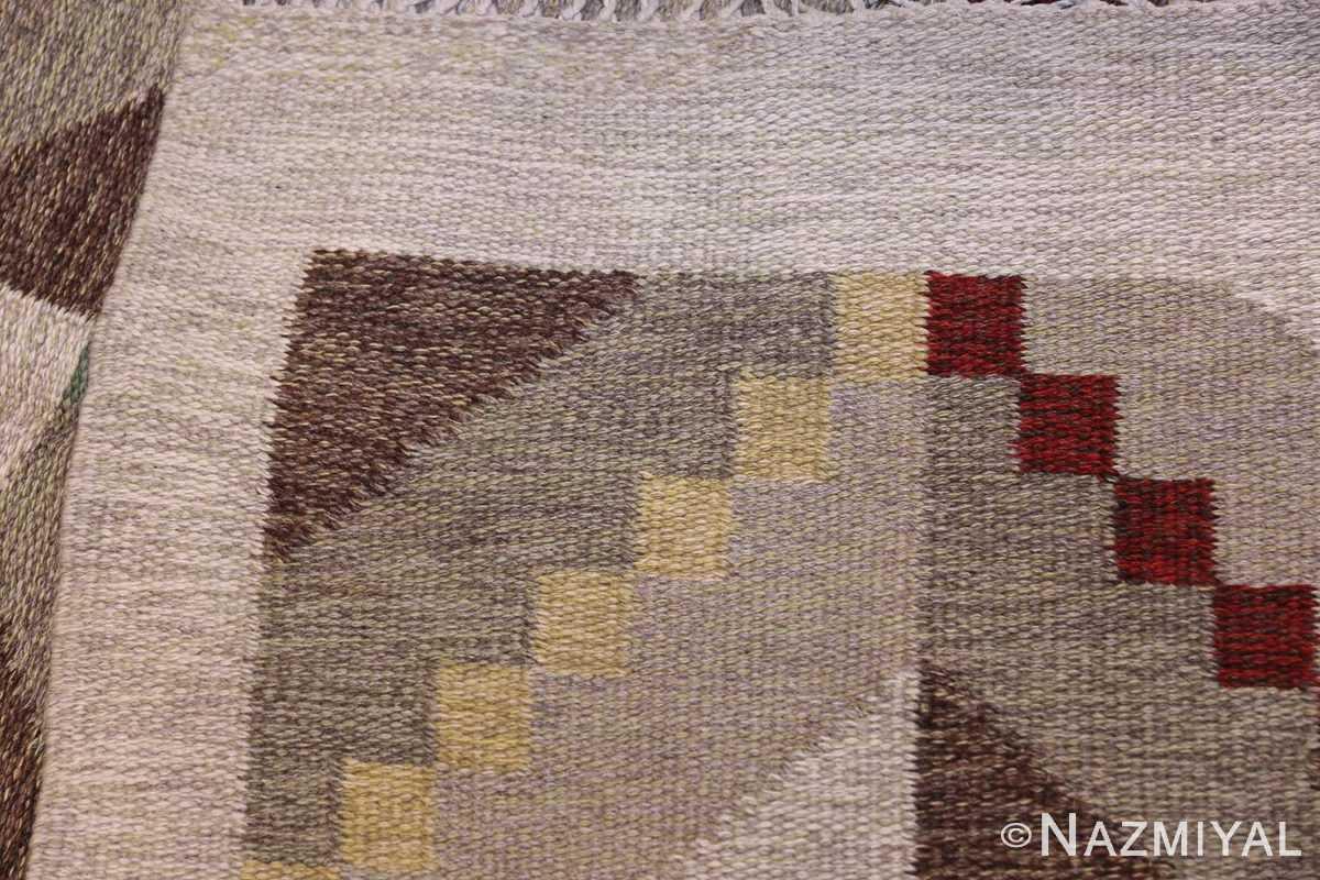 Vintage Scandinavian Swedish Rug by Brita Grahn 47668 Knots Flat Woven Nazmiyal