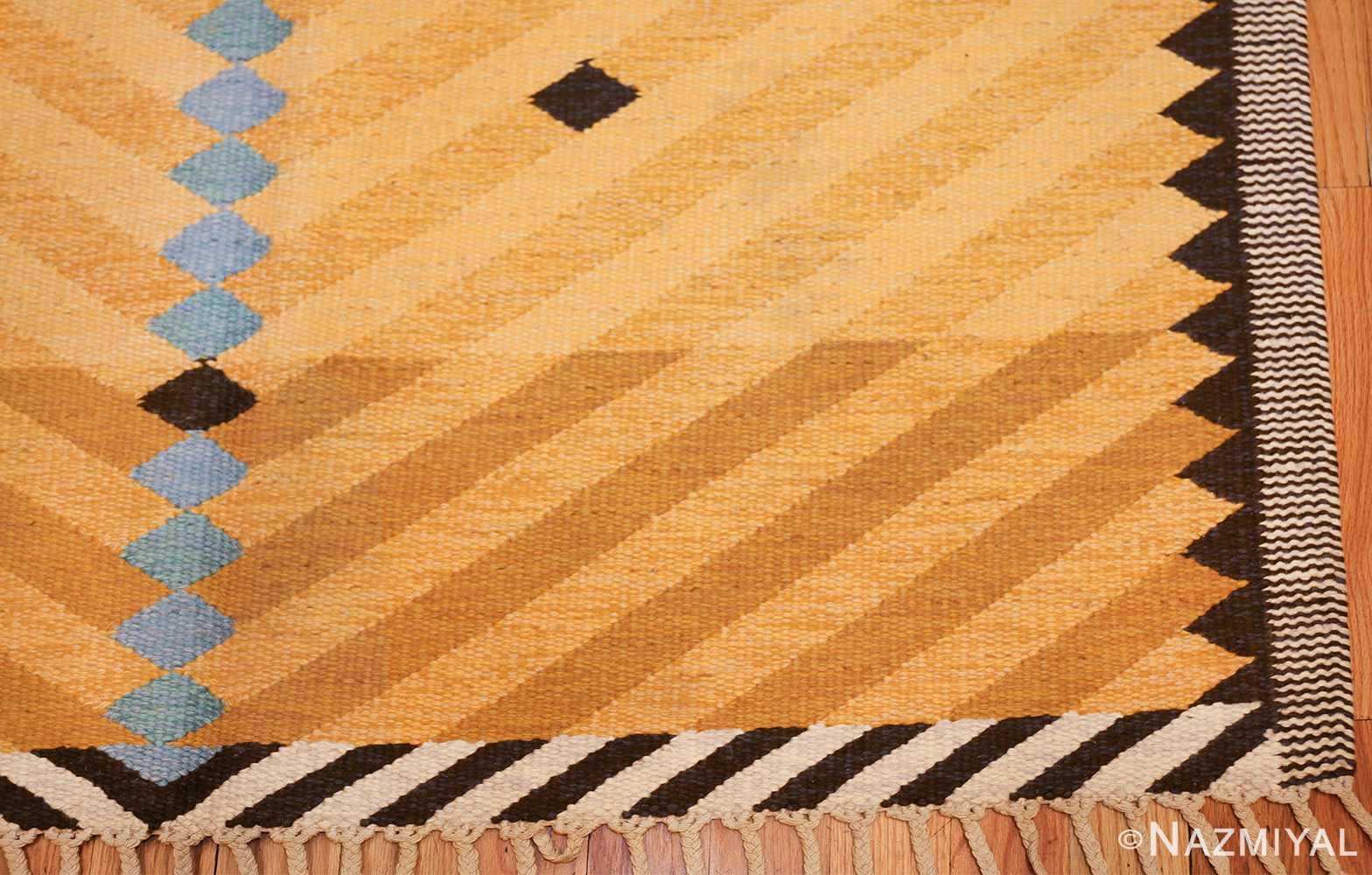 vintage swedish rug by ingrid dessau 47664 corner Nazmiyal
