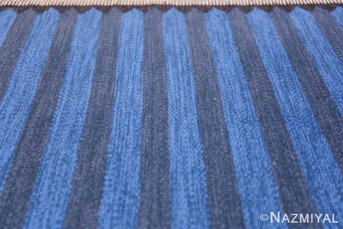 Vintage Swedish Runner 47693 Blue Lines Nazmiyal