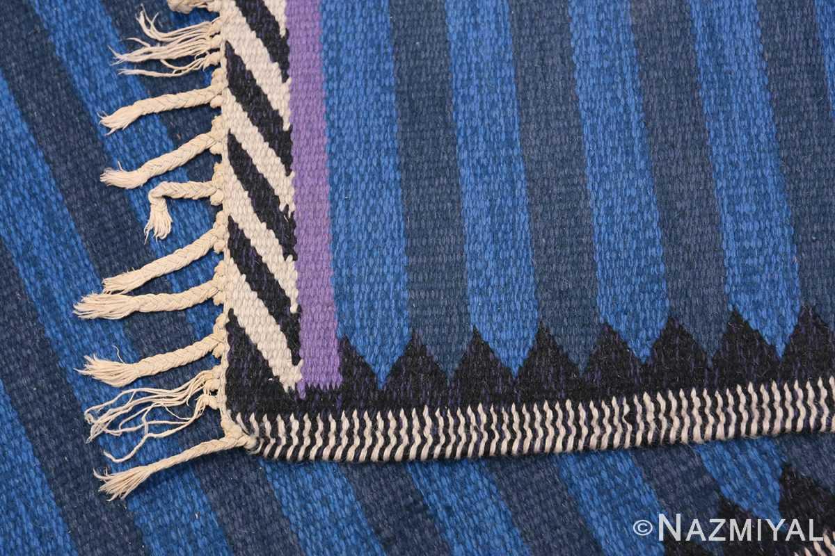 Vintage Swedish Runner 47693 Woven Knots Nazmiyal