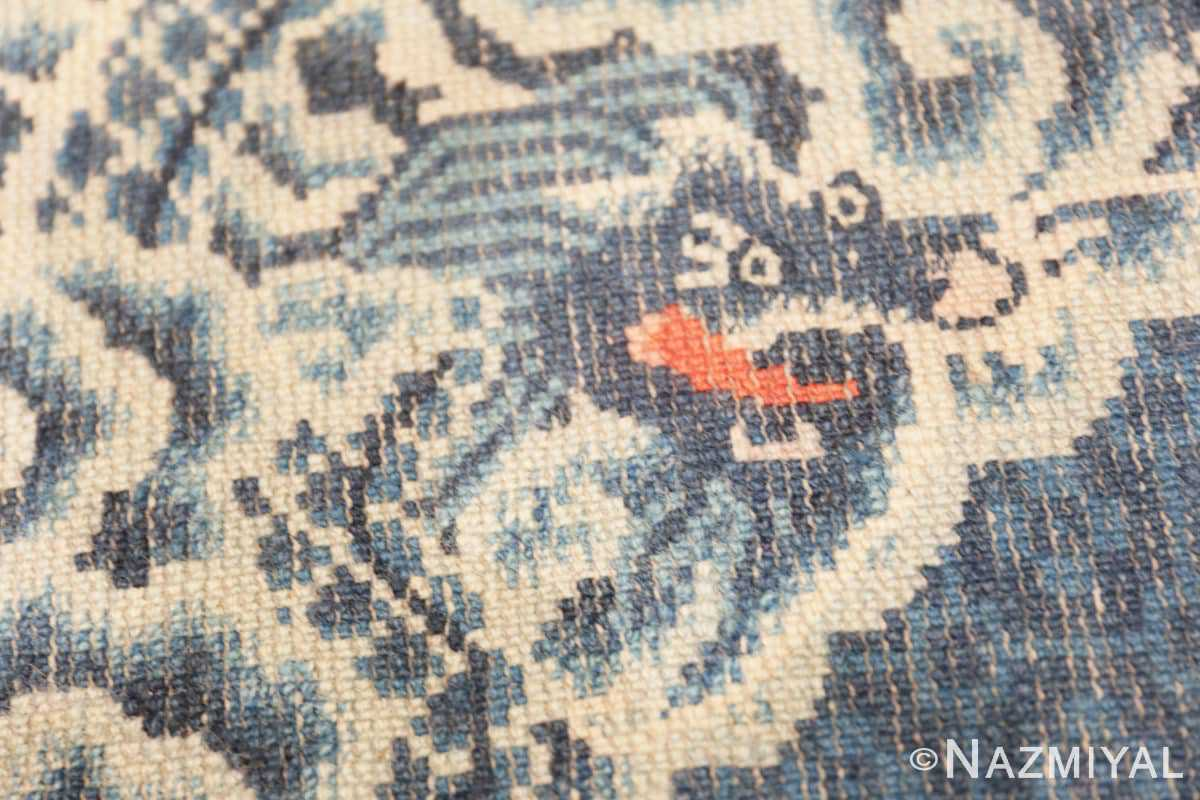 Weave detail Antique Dragon Chinese rug 47762 by Nazmiyal