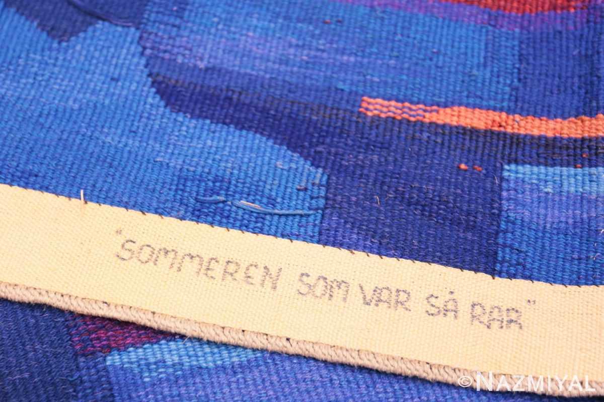 Weave Vintage Norwegian tapestry rug designed by Eevahenna Aalto 47673 by Nazmiyal