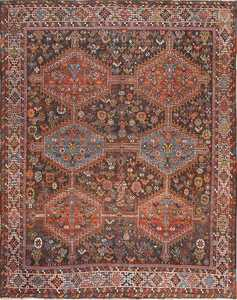 Antique Tribal Afshar Persian Rug 47579 Detail/Large View