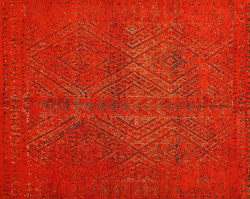 Double Sided Vintage Red Berber Moroccan Rug 49869 - Nazmiyal