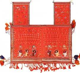 Persian Antique Qashqai Horse Cover 47878 Nazmiyal