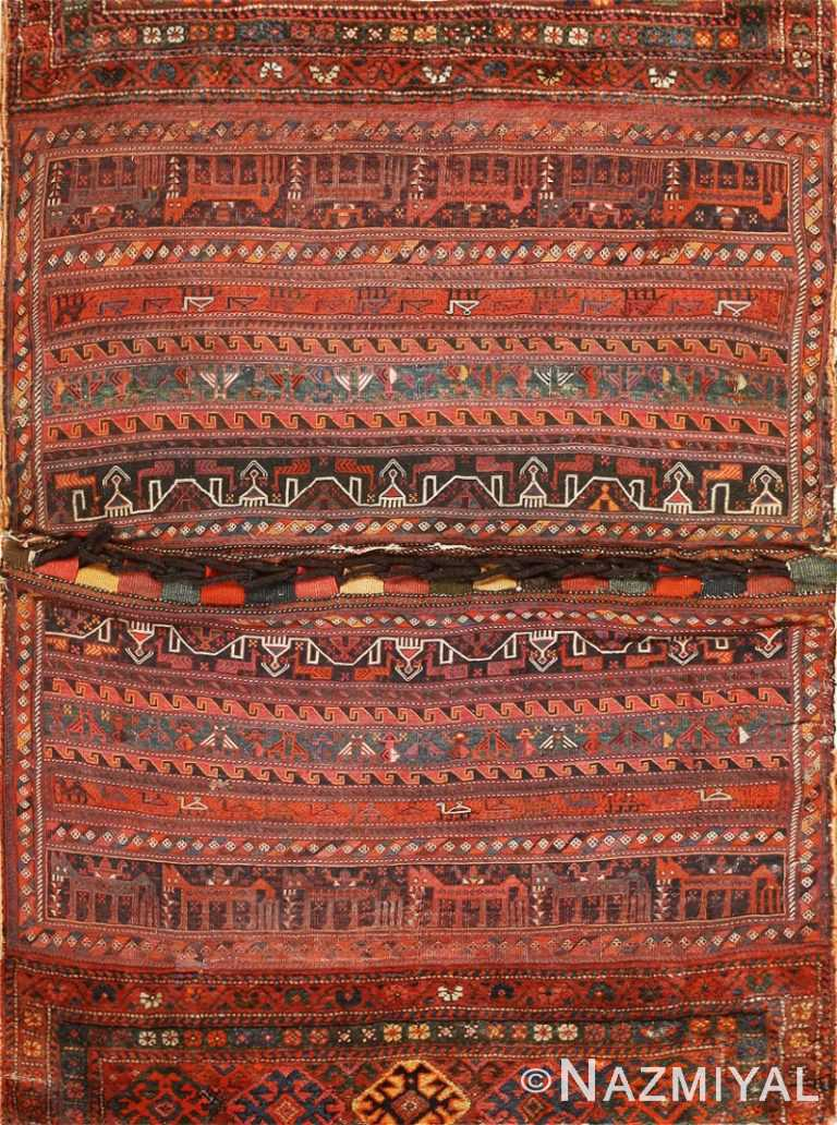 Antique Persian Bakhtiari Horse Cover 47876 Detail/Large View