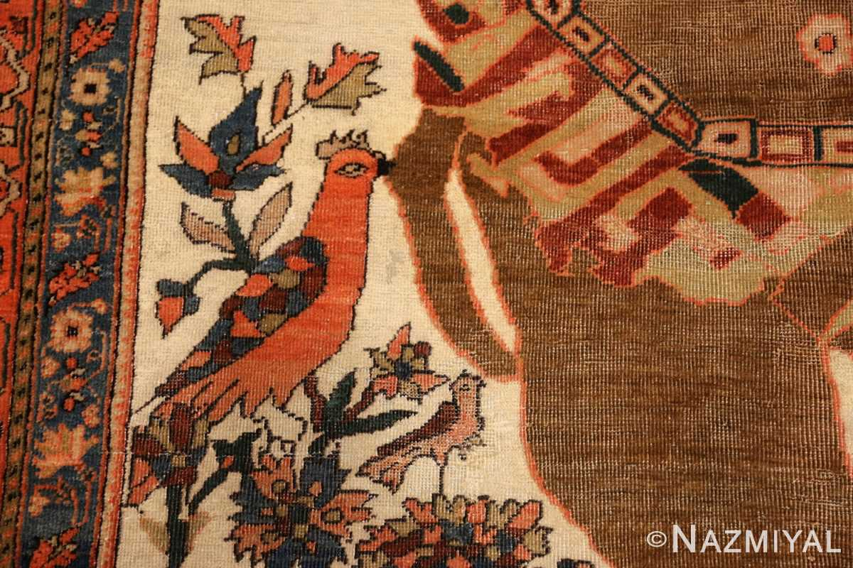 antique persian farahan mythological rug 47606 bird Nazmiyal