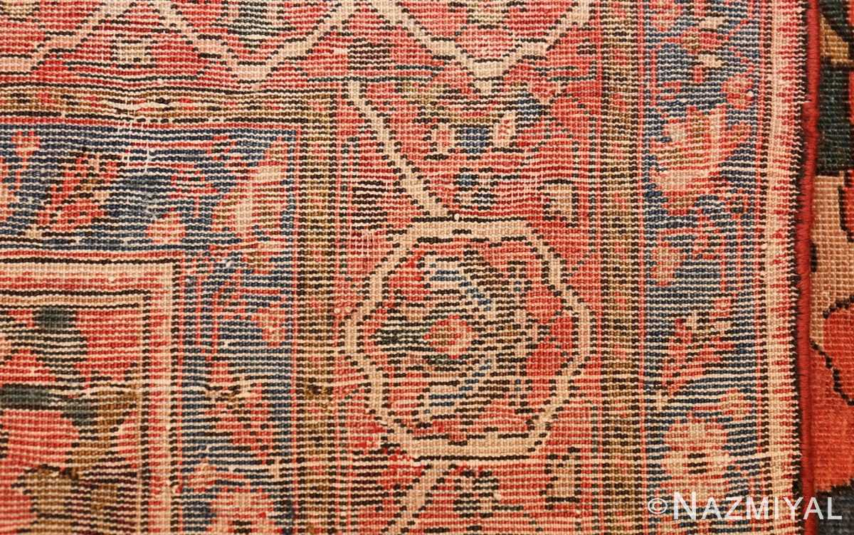 antique persian farahan mythological rug 47606 weave Nazmiyal