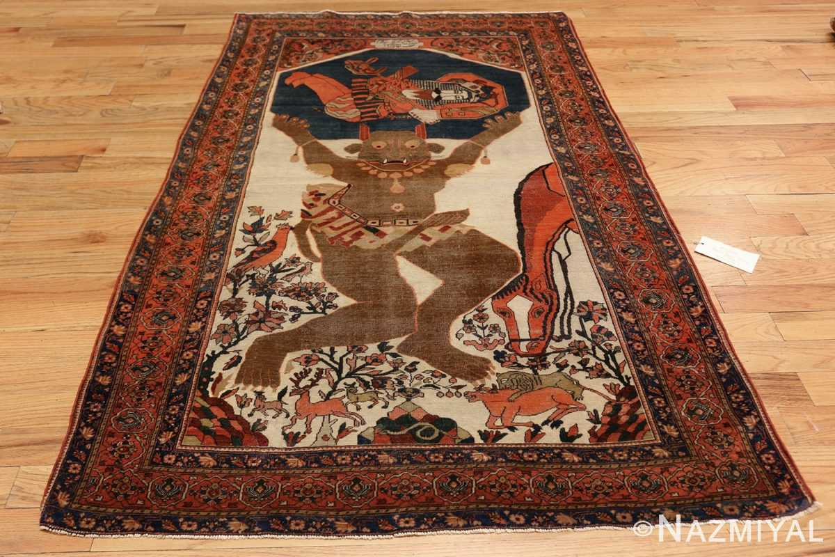 antique persian farahan mythological rug 47606 whole Nazmiyal