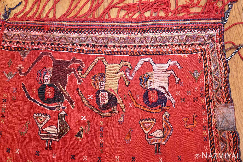antique persian qashqai horse cover 47878 corner Nazmiyal