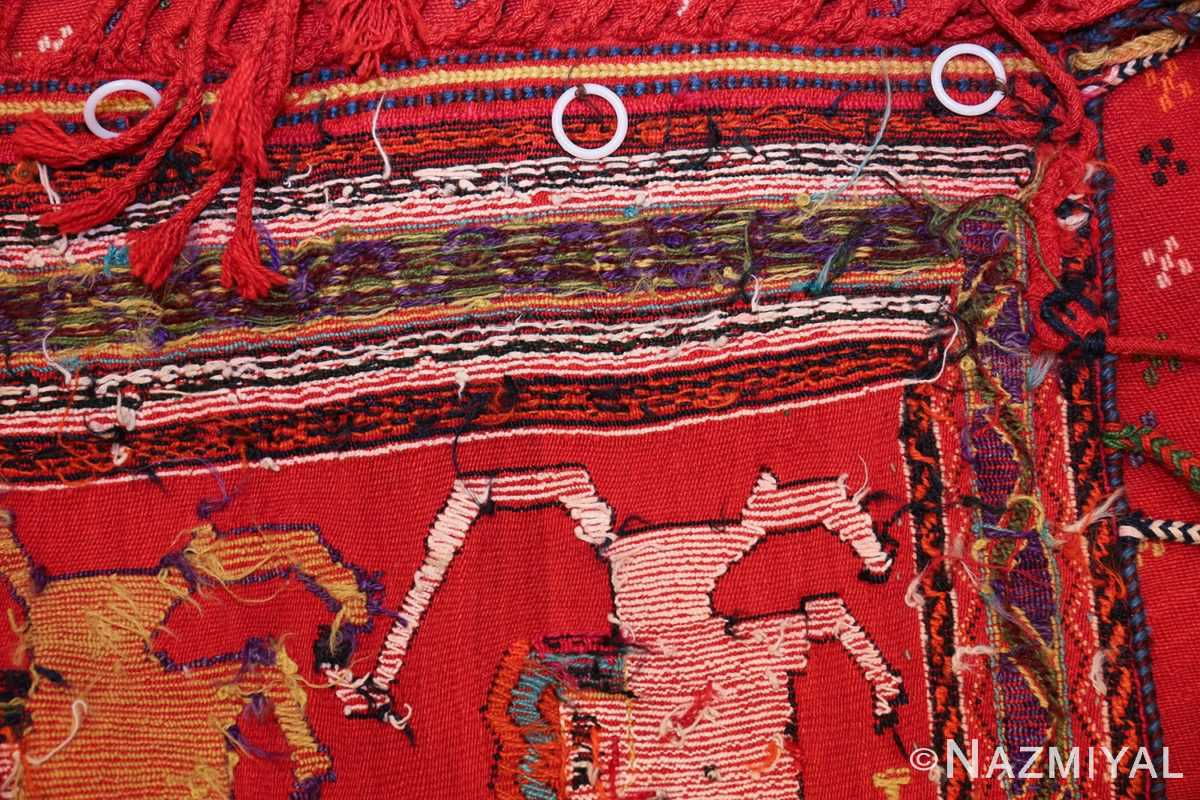 antique persian qashqai horse cover 47878 weave Nazmiyal