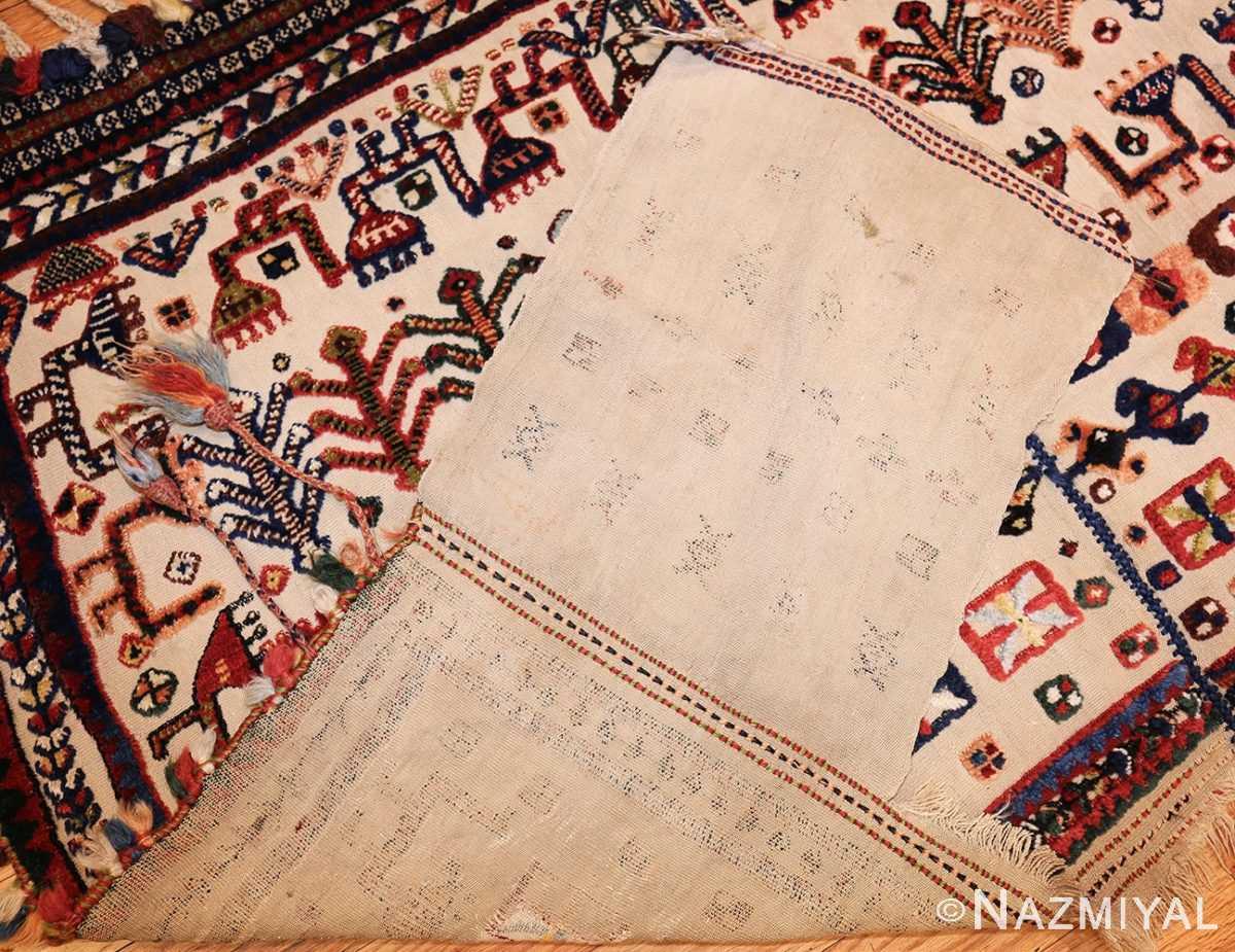 antique persian qashqai horse cover 47882 back Nazmiyal