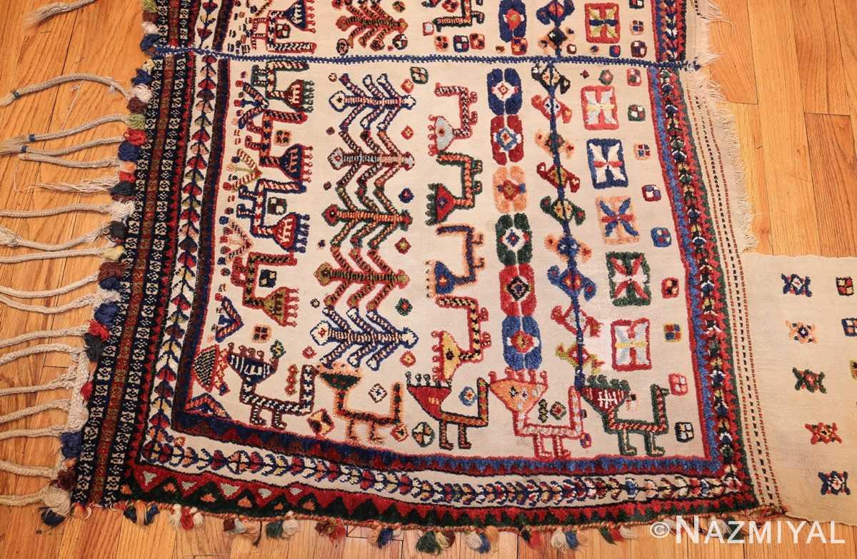 antique persian qashqai horse cover 47882 birds Nazmiyal