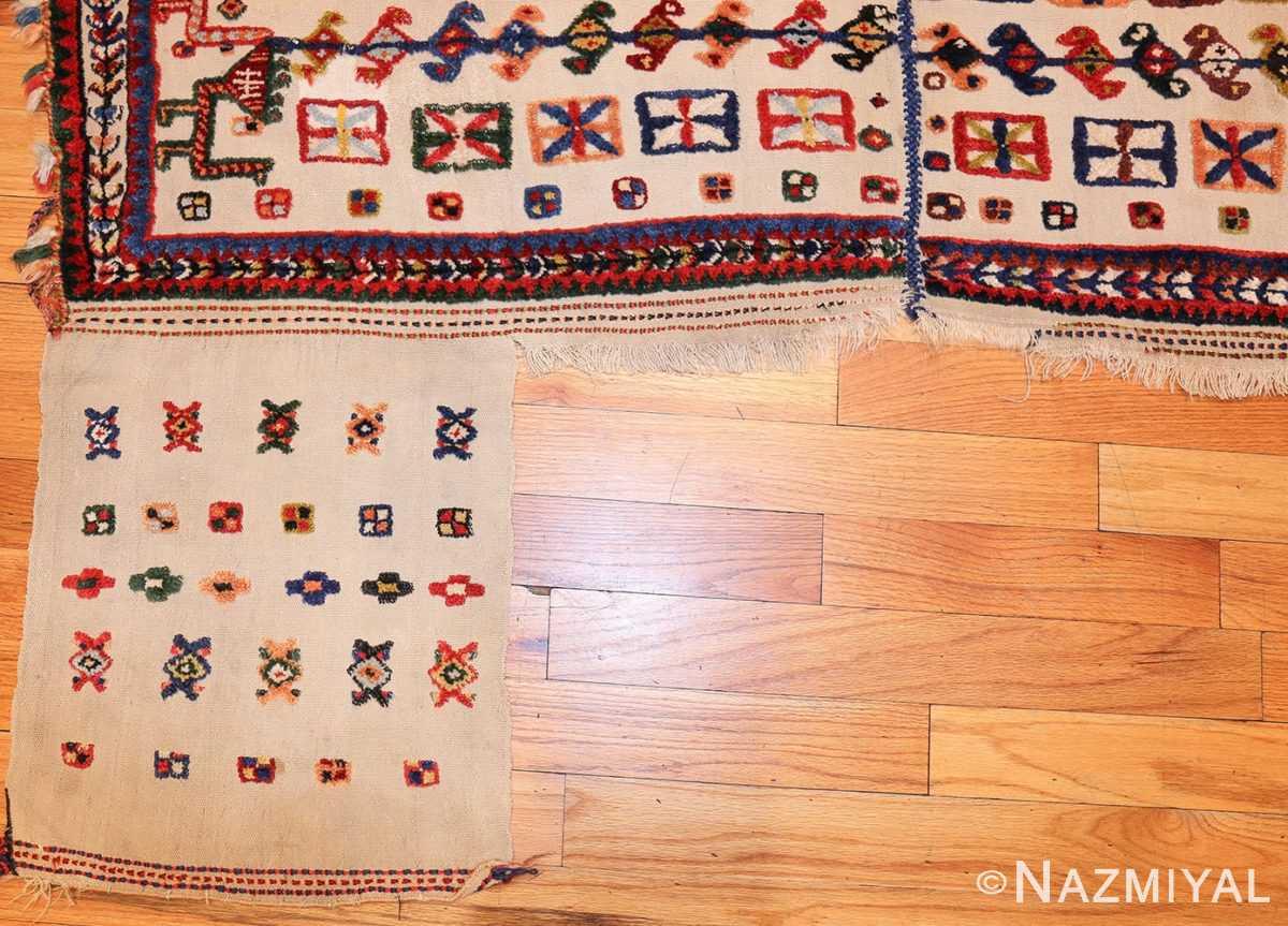 antique persian qashqai horse cover 47882 hanging Nazmiyal