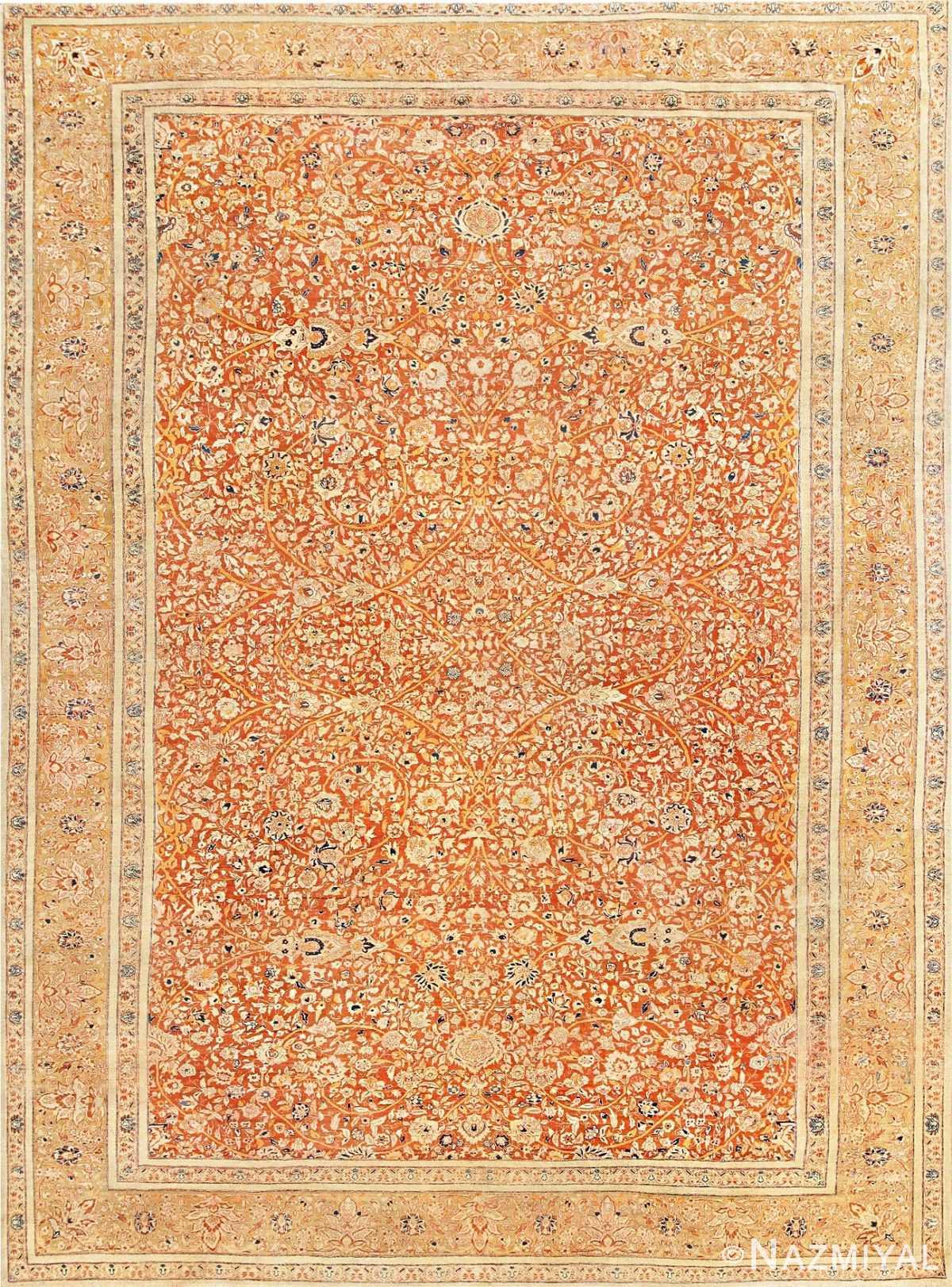 Antique Persian Tabriz Haji Jalili Carpet 47574 Detail/Large View