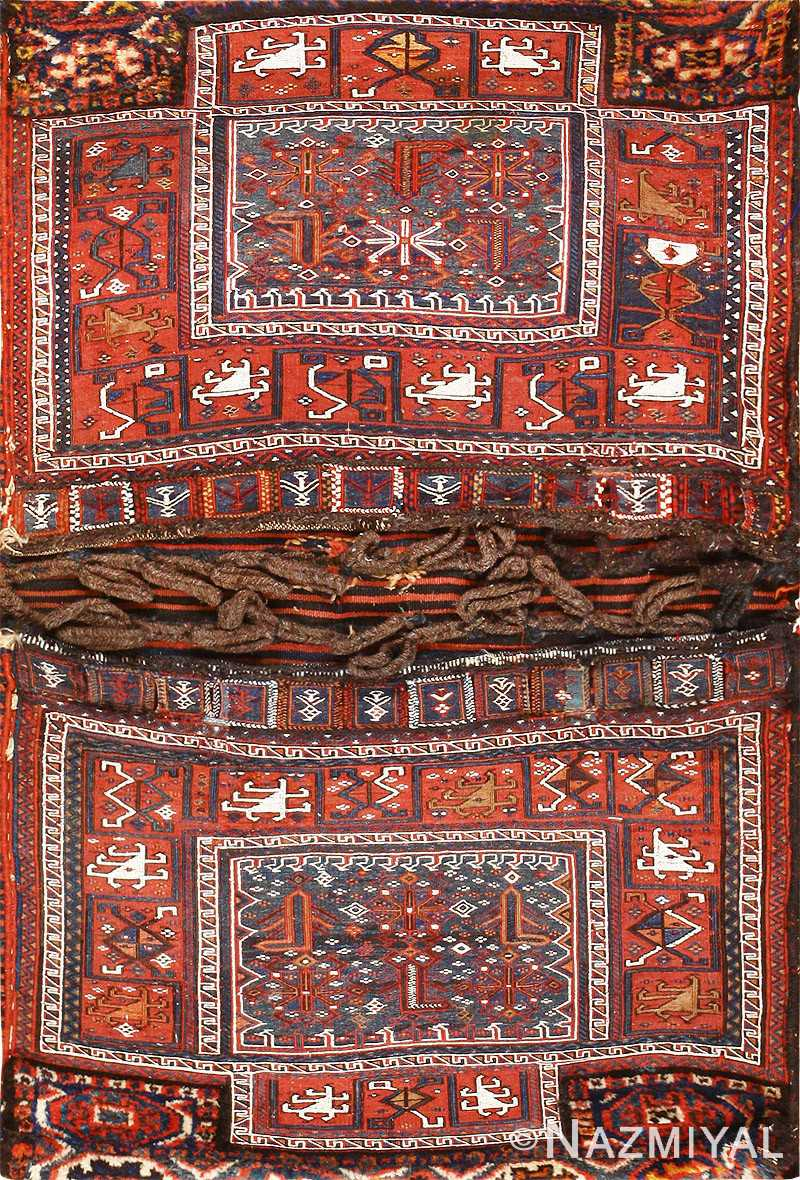 Antique Persian Tribal Bakhtiari Saddle Bag 47881 Nazmiyal