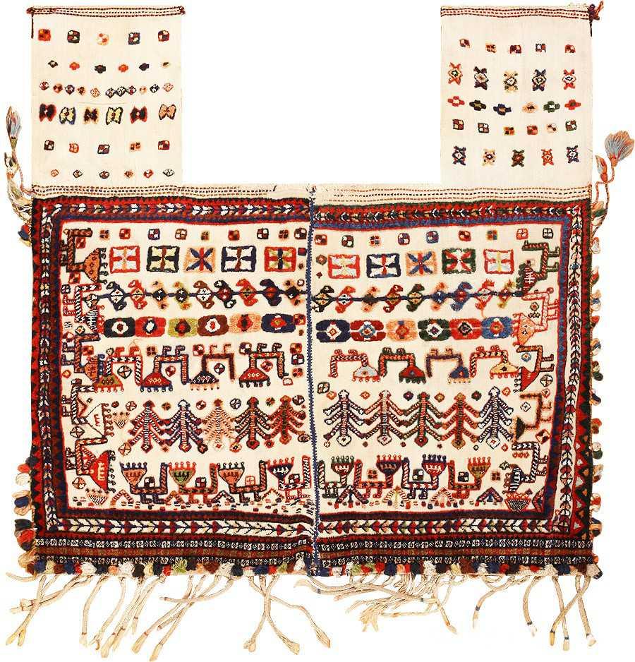 Antique Tribal Persian Qashqai Horse Cover 47882 Nazmiyal