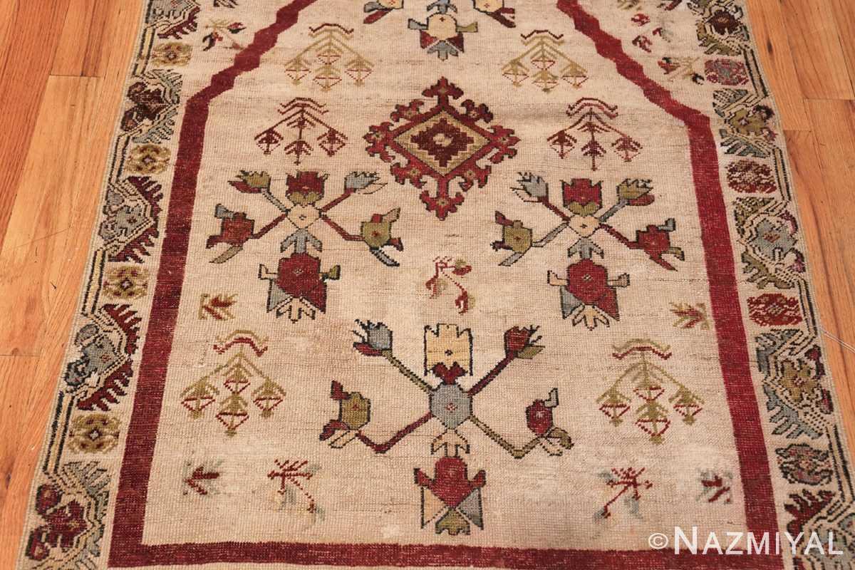 antique turkish kirshehir prayer rug 47476 down Nazmiyal