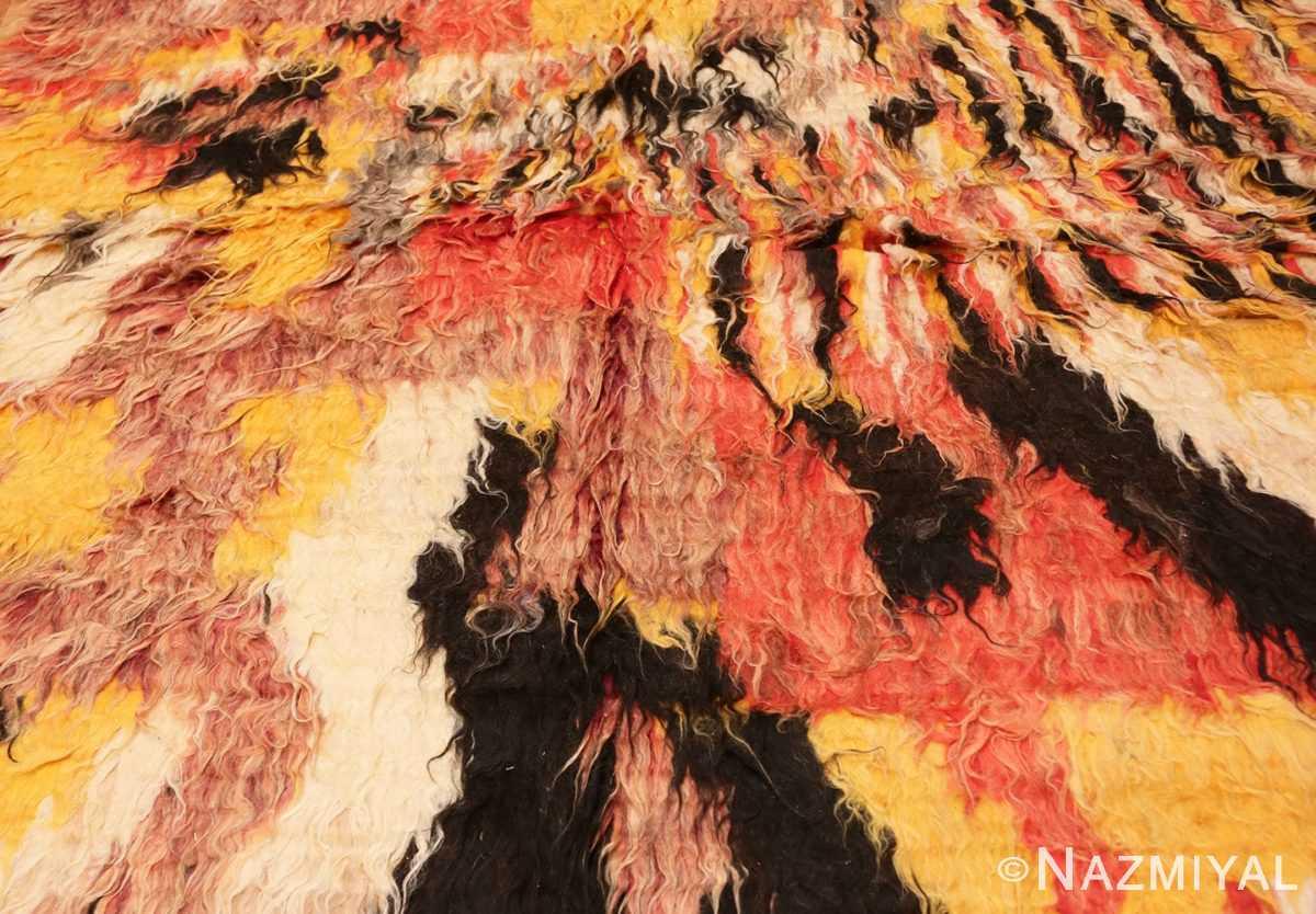 Background Vintage Moroccan Shag rug 47912 by Nazmiyal