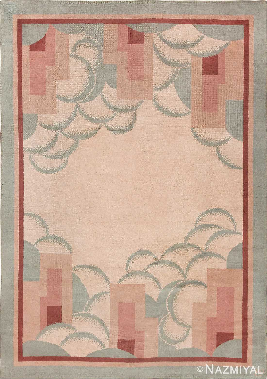 Beautiful French Art Deco Rug 47638 Detail/Large View
