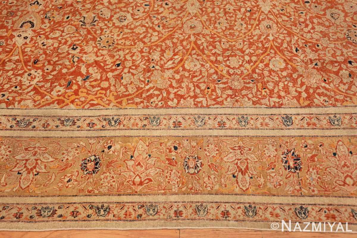 Border Antique Persian Tabriz rug 47574 by Nazmiyal