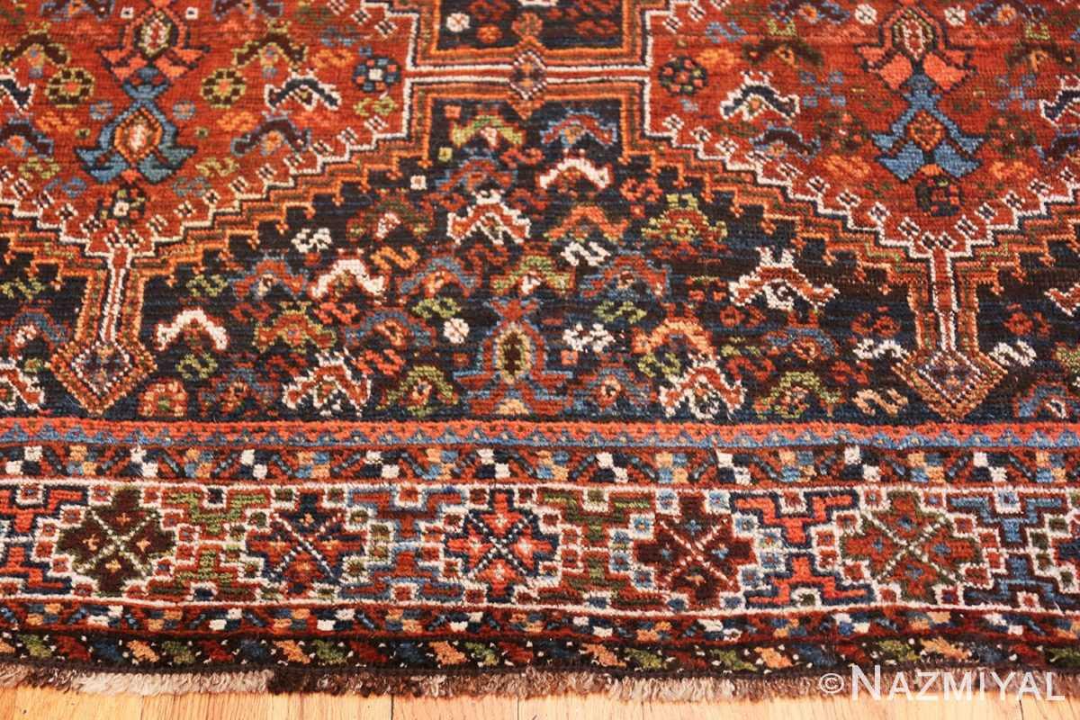Border Antique Tribal Afshar Persian rug 47579 by Nazmiyal