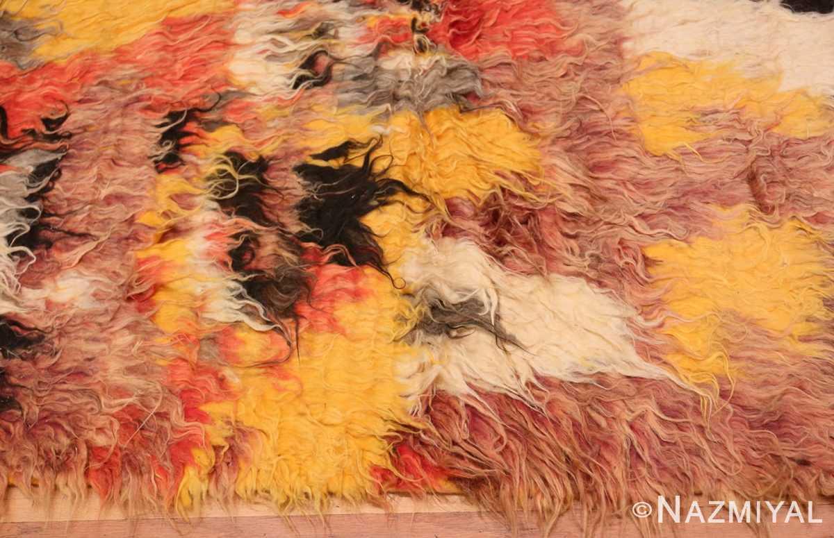 Border Vintage Moroccan Shag rug 47912 by Nazmiyal