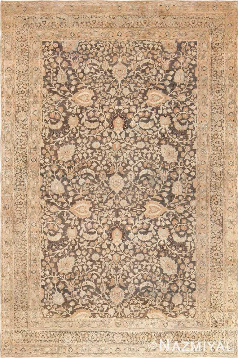 Brown Background Antique Persian Khorassan Carpet 47696 Nazmiyal