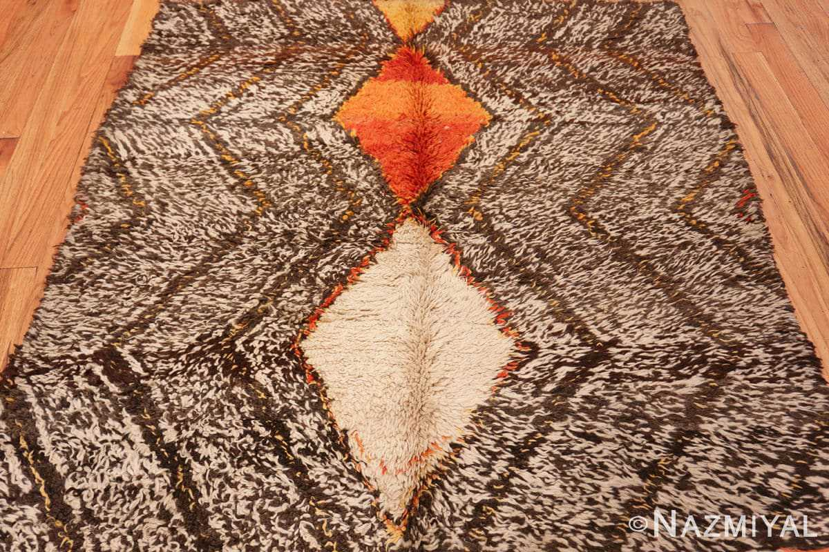Close-up Tribal Vintage Berber Shag Moroccan rug 47929 by Nazmiyal
