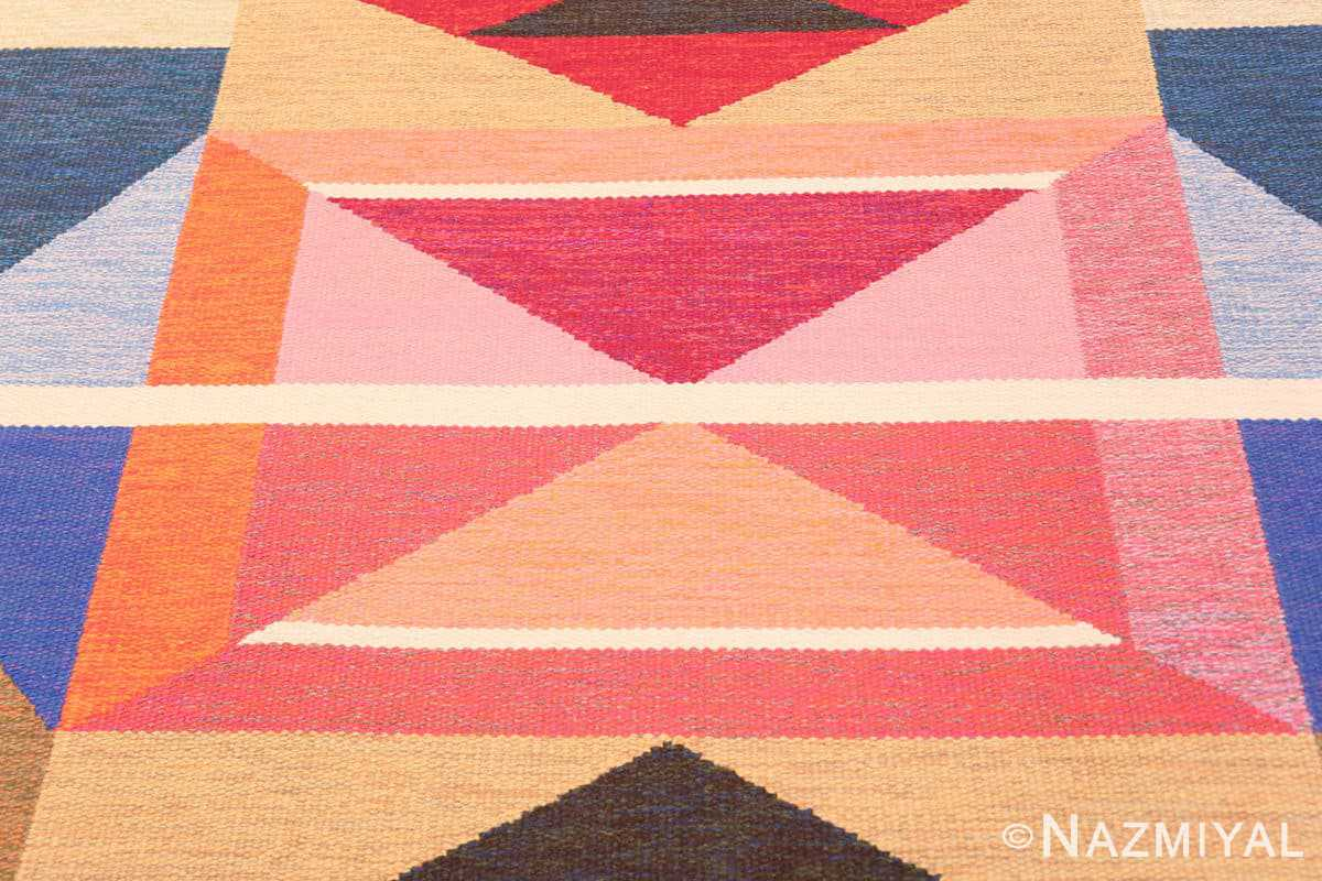 Close-up Large Vintage Swedish wide hallway runner rug by A.Osterberg 47667 by Nazmiyal