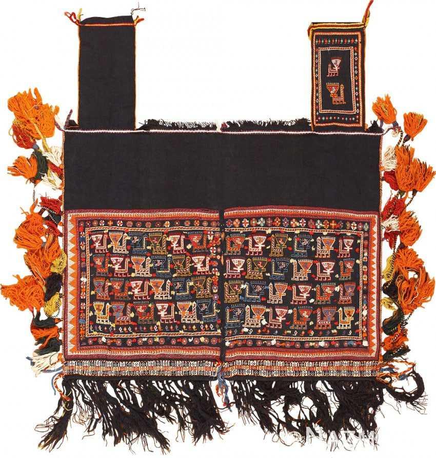 Collectible Antique Persian Qashqai Tribal Horse Cover 47880 Nazmiyal
