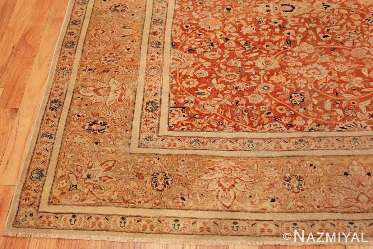 Corner Antique Persian Tabriz rug 47574 by Nazmiyal
