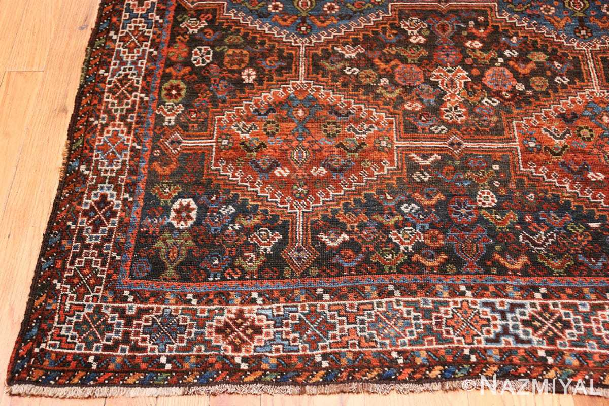 Corner Antique Tribal Afshar Persian rug 47579 by Nazmiyal