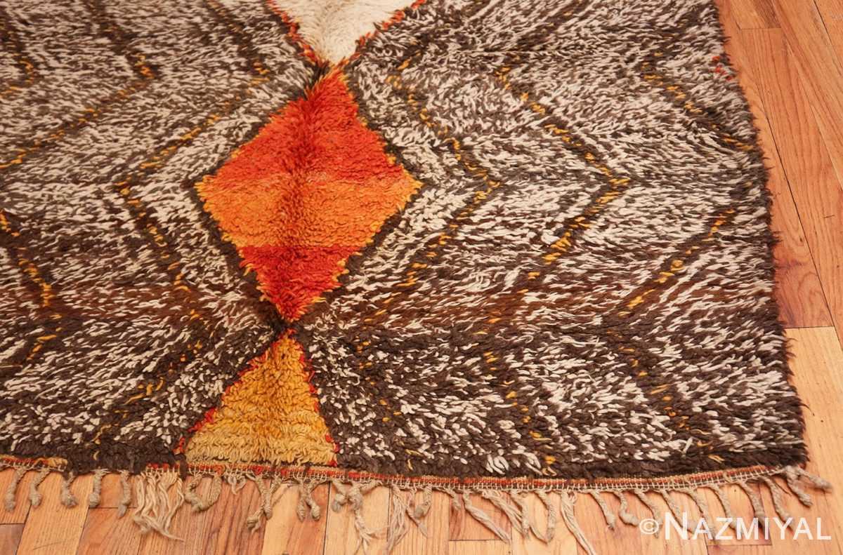 Corner Tribal Vintage Berber Shag Moroccan rug 47929 by Nazmiyal