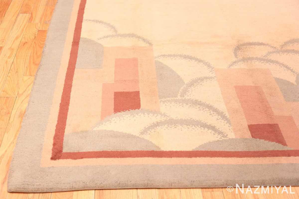 Corner Vintage French deco rug 47638 by Nazmiyal