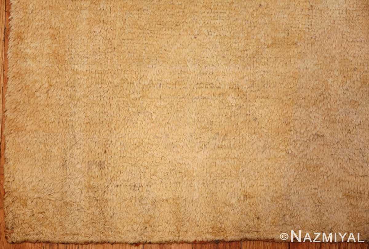 decorative antique oushak rug 47628 corner Nazmiyal
