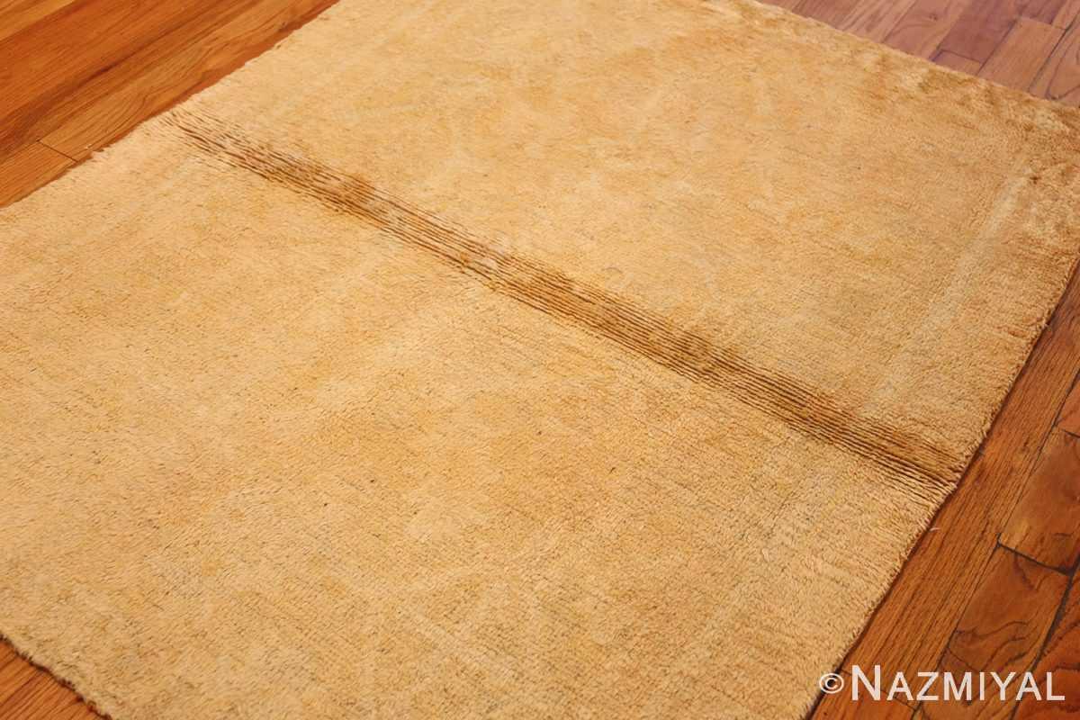 decorative antique oushak rug 47628 side Nazmiyal