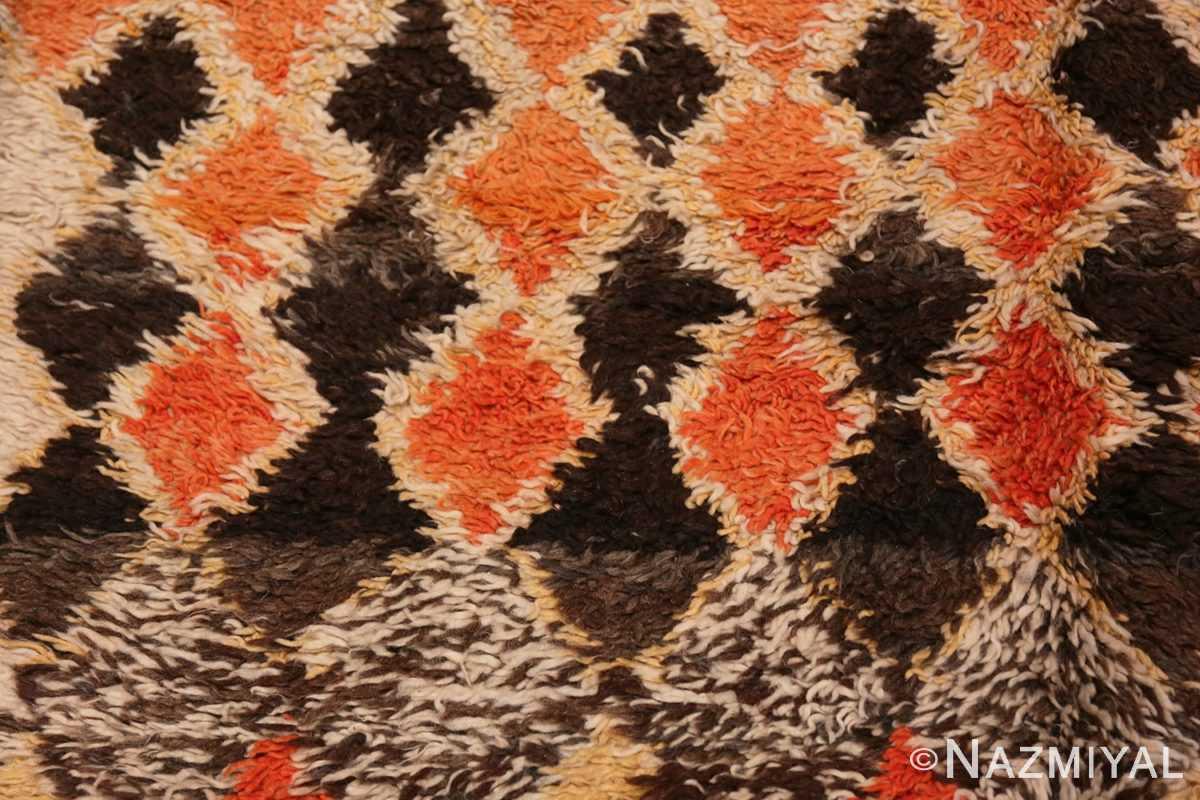Detail Tribal Vintage Berber Shag Moroccan rug 47929 by Nazmiyal