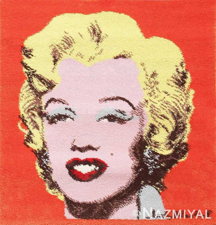 Ege Art Rug of Marilyn Monroe by Andy Warhol 47683 Detail/Large View