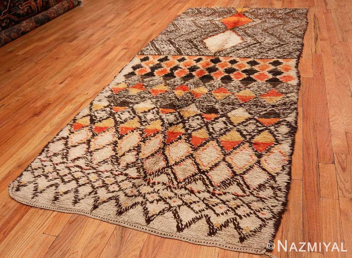 Full Tribal Vintage Berber Shag Moroccan rug 47929 by Nazmiyal