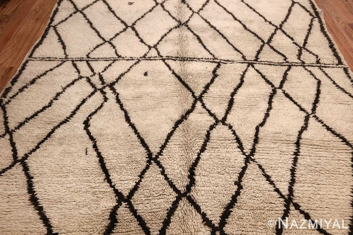 ivory and brown beni ourain rug morocco 47933 field Nazmiyal