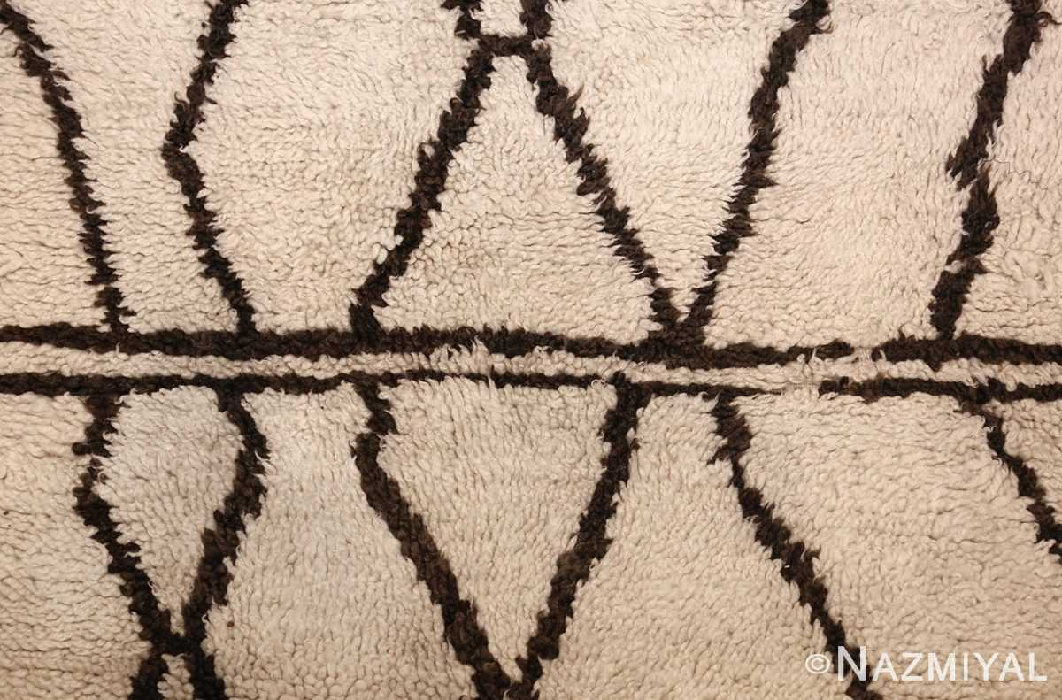 ivory and brown beni ourain rug morocco 47933 middle Nazmiyal