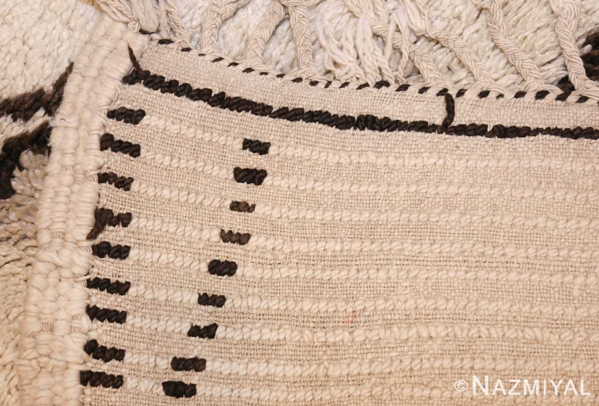 ivory and brown beni ourain rug morocco 47933 weave Nazmiyal