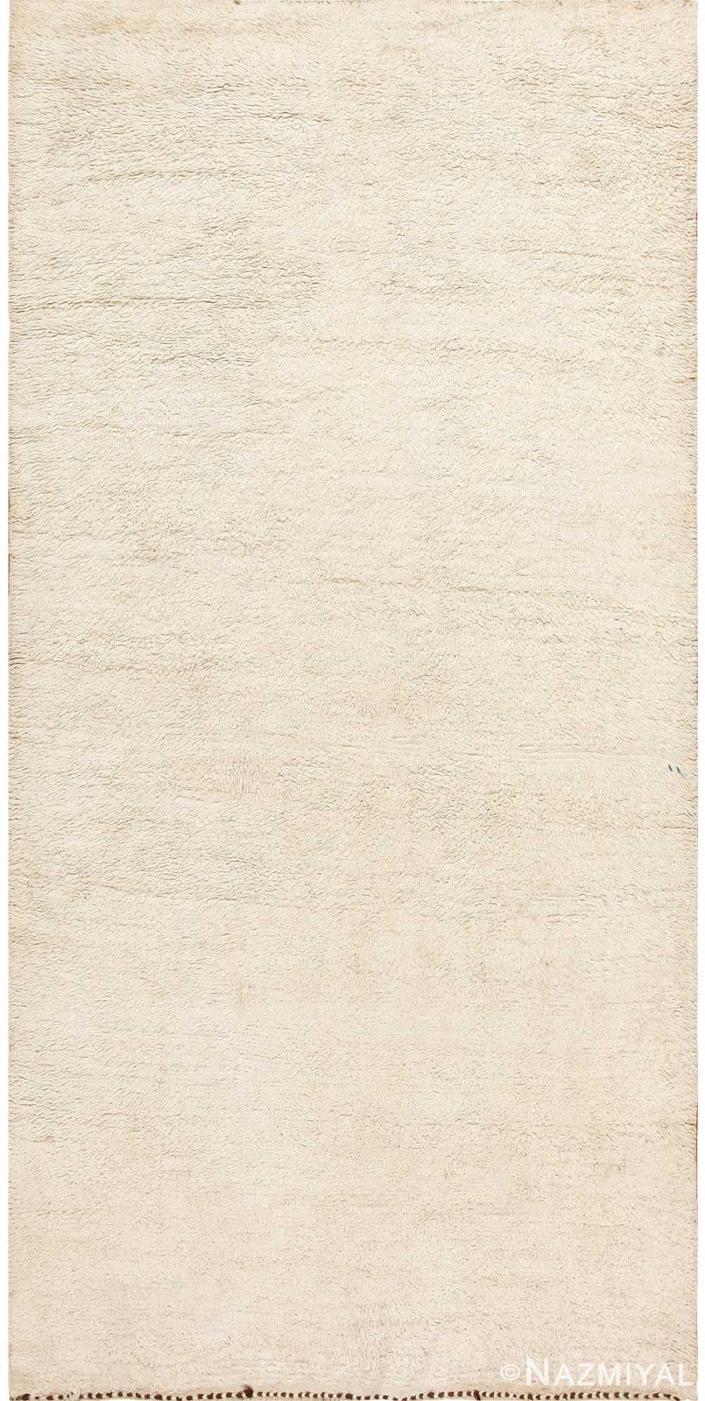 Ivory Moroccan Beni Ourain Rug 47908 Detail/Large View