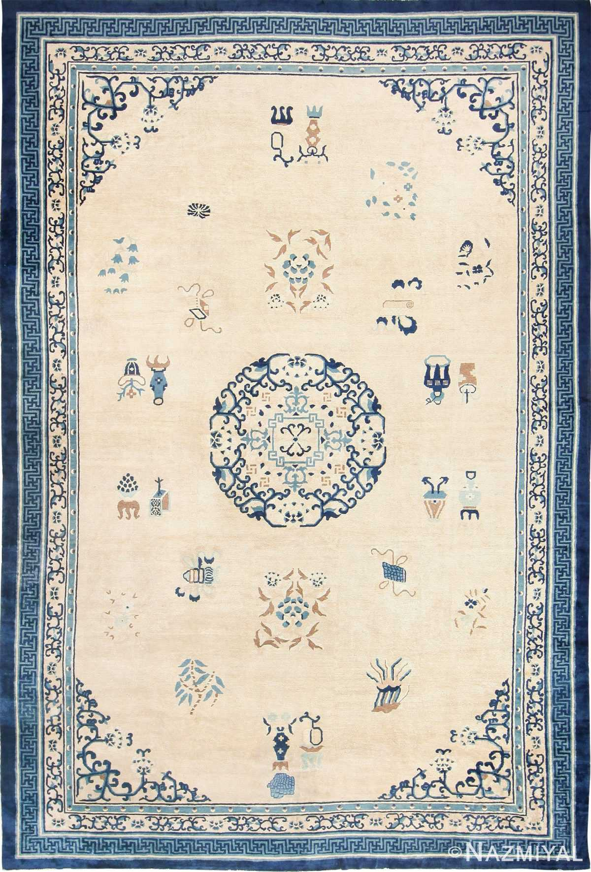 Large Antique Chinese Carpet 43981 Detail/Large View