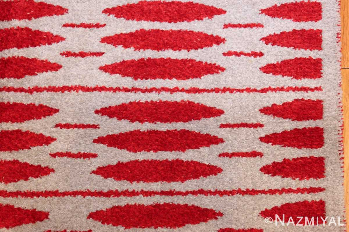 mid century vintage double sided swedish rug 47788 light border Nazmiyal