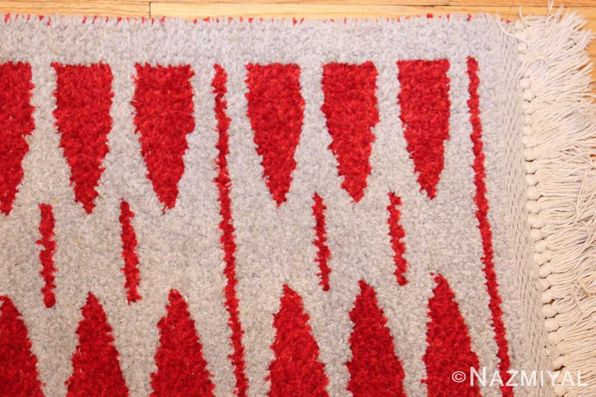 mid century vintage double sided swedish rug 47788 light corner Nazmiyal